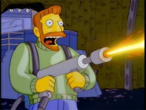 Hank Scorpio flamethrower
