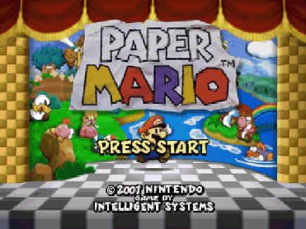 Paper Mario-start
